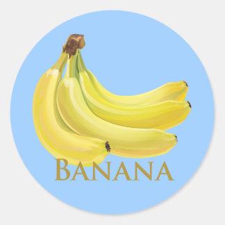 Bunch of Bananas Round Sticker