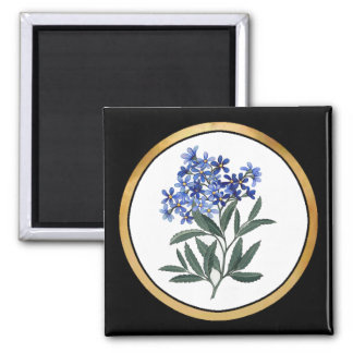Bunch of Blue Blossoms Square Magnet