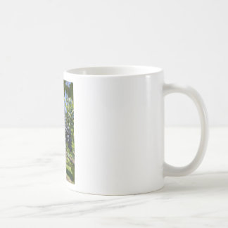 Bunch of blue grapes coffee mug