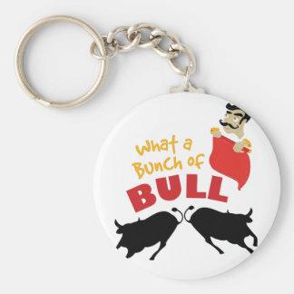Bunch Of Bull Basic Round Button Keychain