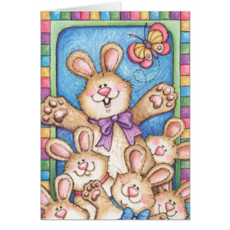 Bunch of Bunnies - Greeting Card