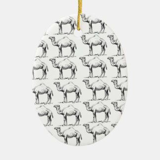 bunch of camels herd ceramic ornament