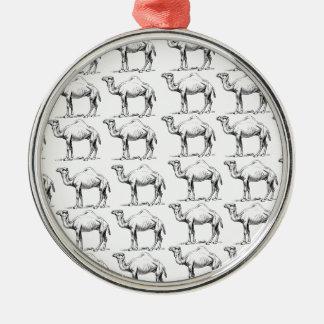 bunch of camels herd metal ornament