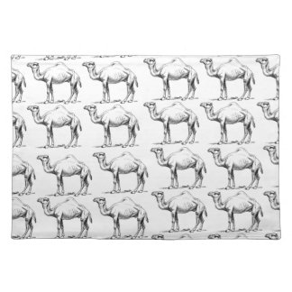 bunch of camels herd placemat