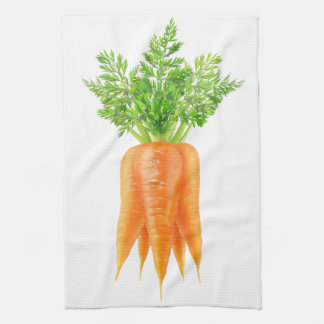Bunch of carrots kitchen towel