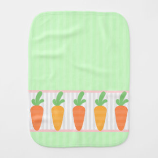 Bunch of Carrots Patterned Burp Cloth