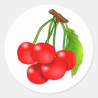 Bunch of cherries classic round sticker