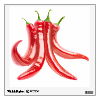 Bunch of chili peppers wall decal