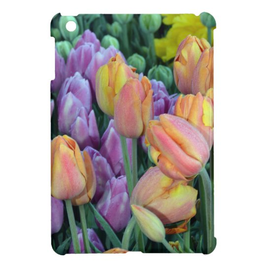 Bunch of colorful tulips iPad mini cases