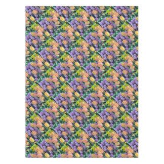 Bunch of colorful tulips tablecloth