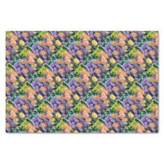 Bunch of colorful tulips tissue paper