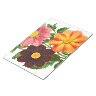 Bunch Of Dahlias Notepad