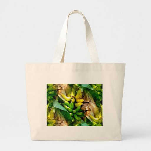 Bunch of delicious yellow and green bananas tote bags