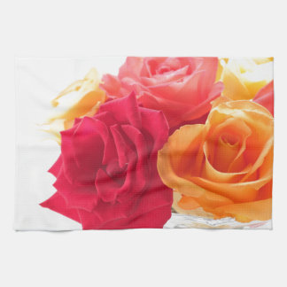 bunch of different roses kitchen towel