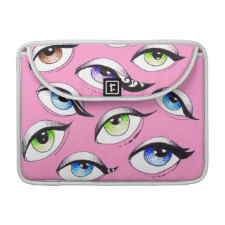 Bunch Of Eyes Pink Sleeve For MacBooks