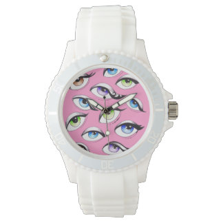 Bunch Of Eyes Pink Watch