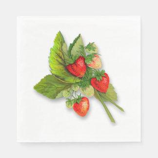 Bunch of Fresh Summer Strawberries Paper Napkin