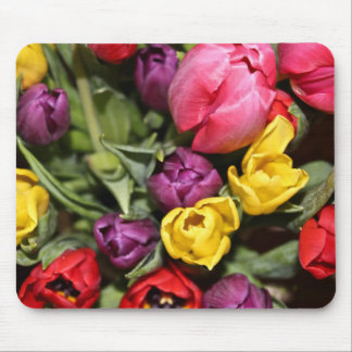 Bunch of Fresh Tulips Flowers Mouse Pad