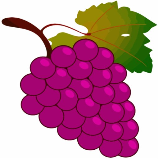Bunch Of Grapes Acrylic Cut Out Zazzle