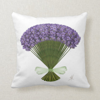 Bunch of lavender throw pillow