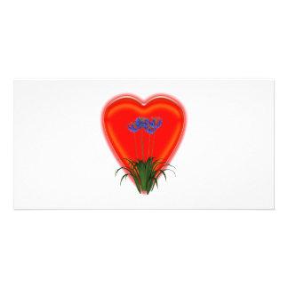 Bunch Of Lovely Flowers Custom Photo Card