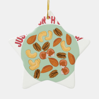 Bunch Of Nuts Ceramic Star Ornament
