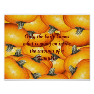 Bunch of Pumpkins Carving Poster