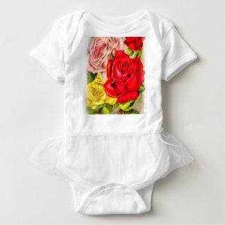 Bunch Of Roses Watercolor Baby Bodysuit