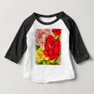 Bunch Of Roses Watercolor Baby T-Shirt