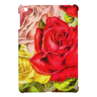 Bunch Of Roses Watercolor Cover For The iPad Mini
