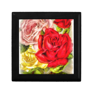 Bunch Of Roses Watercolor Gift Box