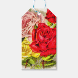 Bunch Of Roses Watercolor Gift Tags