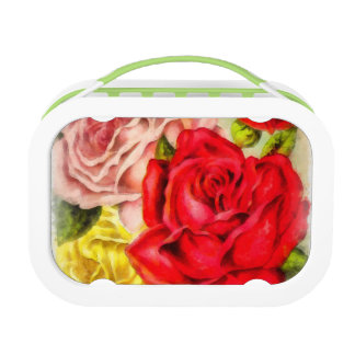 Bunch Of Roses Watercolor Lunch Box