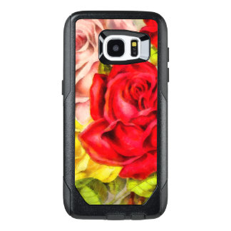 Bunch Of Roses Watercolor OtterBox Samsung Galaxy S7 Edge Case