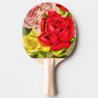 Bunch Of Roses Watercolor Ping Pong Paddle