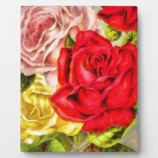 Bunch Of Roses Watercolor Plaque