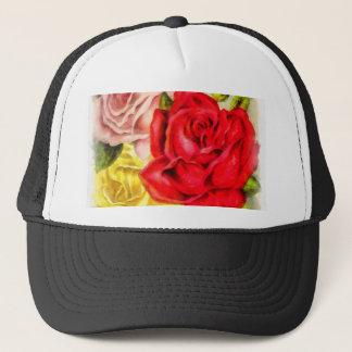 Bunch Of Roses Watercolor Trucker Hat