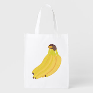 Bunch of Yellow Bananas Custom Grocery Bags