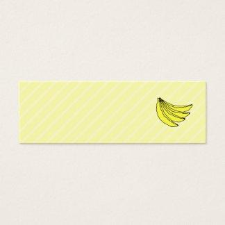 Bunch of Yellow Bananas. Mini Business Card