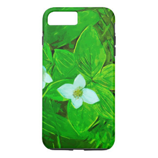 Bunchberry White Wildflower Abstract Impressionism iPhone 7 Plus Case