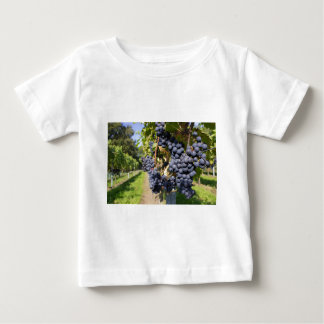 Bunches of blue grapes with path baby T-Shirt