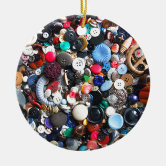 Bunches of Buttons Ceramic Ornament