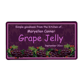 Bunches of Grapes for Jam or Jelly Jars Shipping Label
