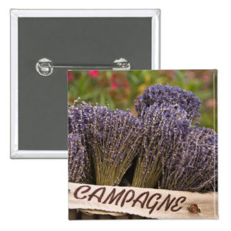 Bunches of lavender for sale, Vence, Provence, 2 Inch Square Button