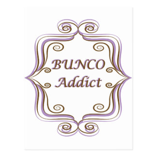 Bunco Addict Postcard