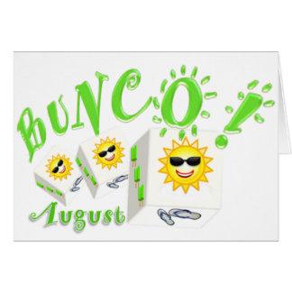 Bunco August Greeting Card