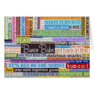 Bunco Babe Note Card