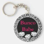 Bunco Babe Vintage Design Basic Round Button Keychain