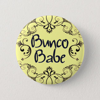 Bunco Babe with Swirls Button