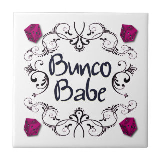 Bunco Babe with Swirls Ceramic Tiles